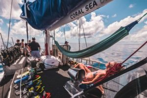 coral sea dreaming liveaboard deck
