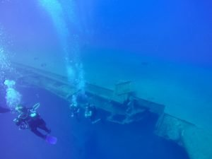 scuba diving on zenobia wreck