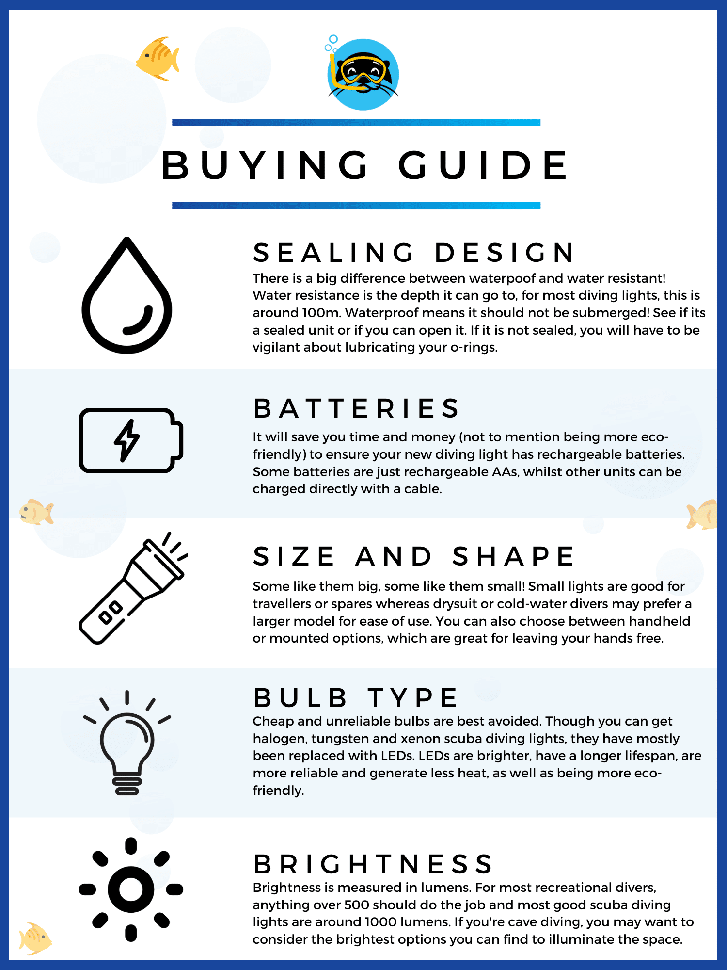 best scuba diving lights quick buying guide