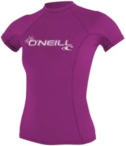O'Neill Basic Skins Best Women's Rash Guard for swimming
