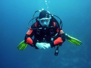 diving in a drysuit