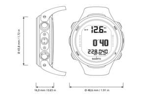 suunto d4i novo dive computer technical drawing
