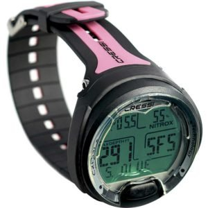 cressi leonardo dive computer pink and black